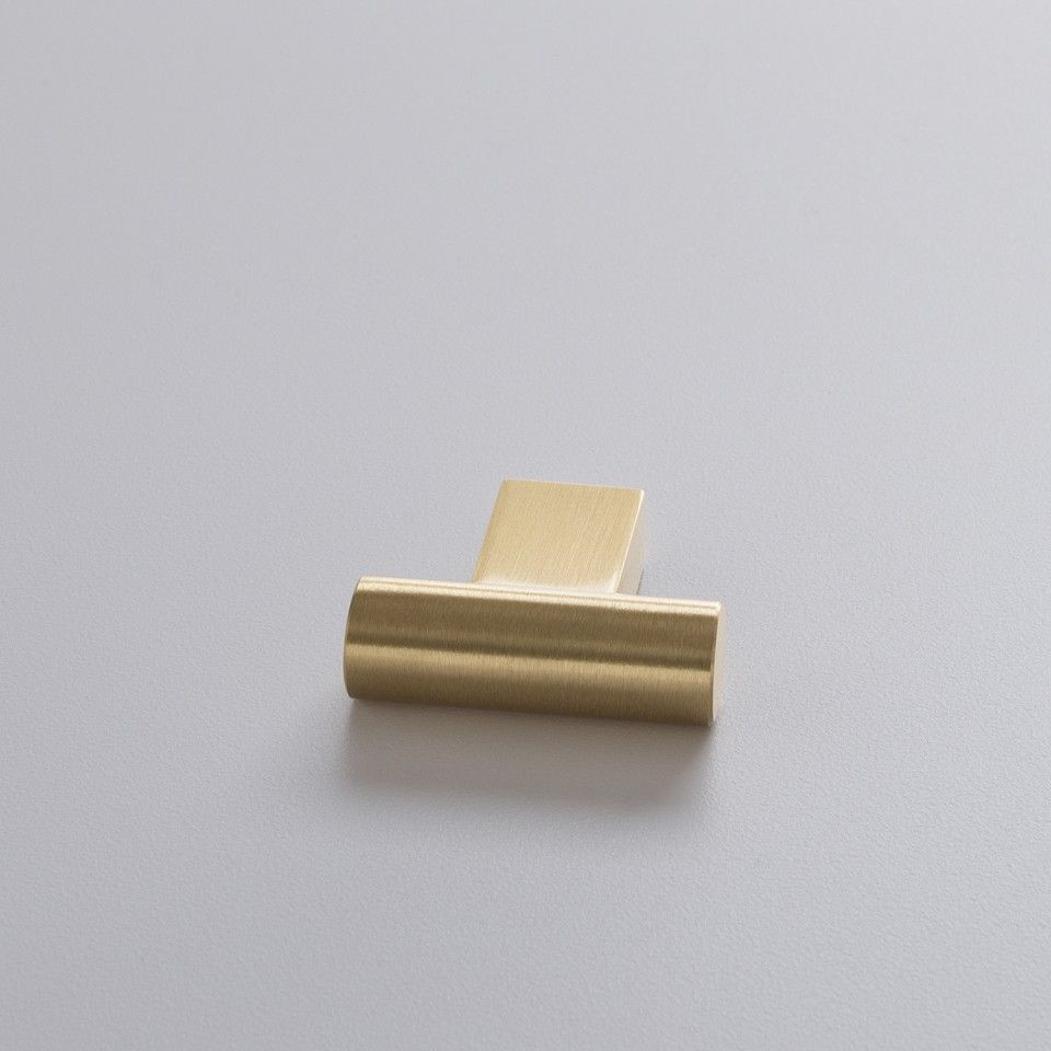 2x2, T Pull, natural brass, $19