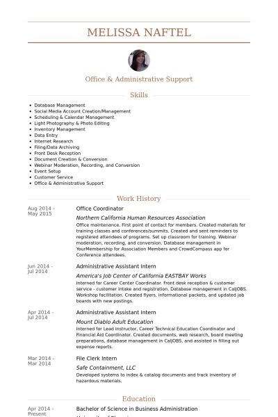 National Account Coordinator Resume Account Coordinator Resume - administrative coordinator resume