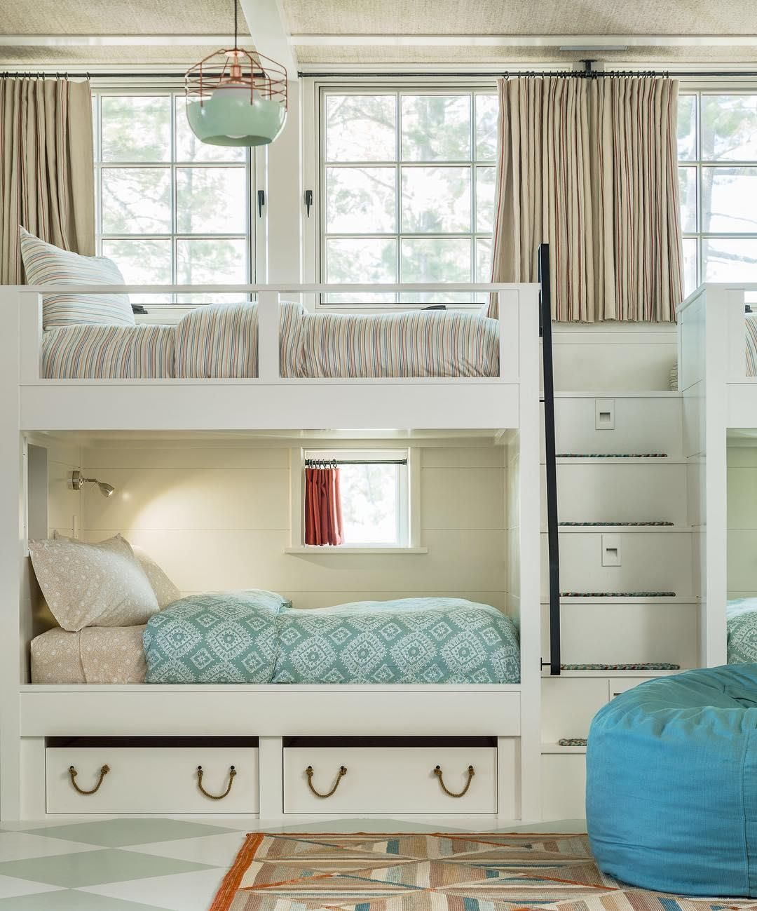 Kids Bunk Beds in Lake House at Sunapee, NH