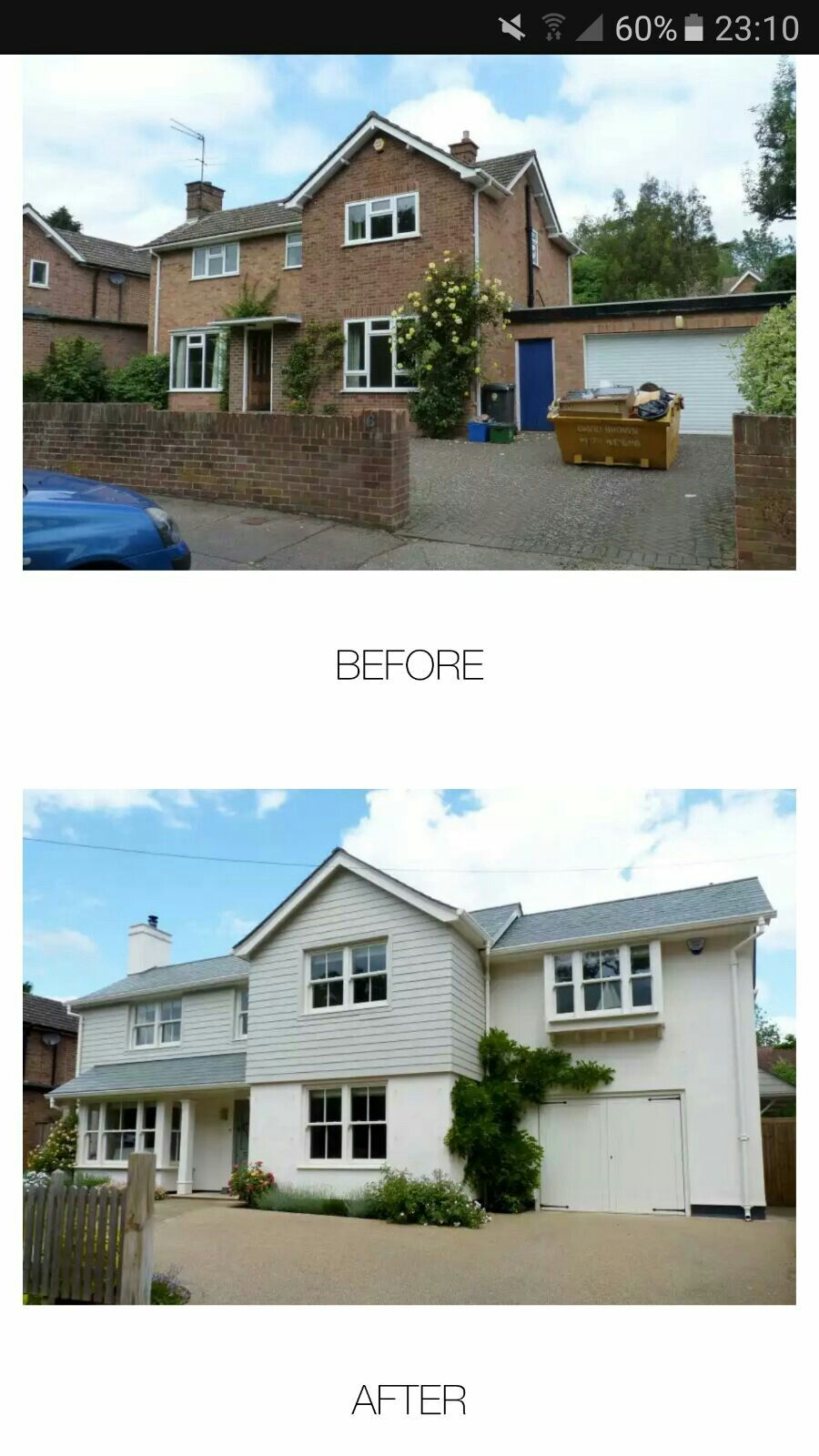 By Back to Front, Farnham Home exterior makeover, House