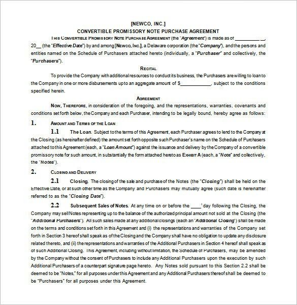Business Promissory Note Template Promissory Note Template Free - convertible note agreement template