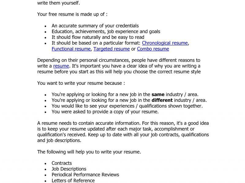 Targeted Resume Example Examples of Resumes