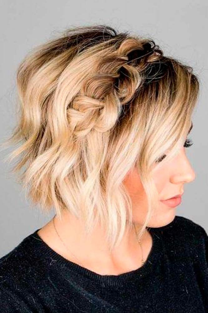 Bob Headband Braid #braidedhair #ombrehair ★ Short hairstyles for women have caused a lot of stir in 2019. Want to know what they are? You can find all of them in our exclusive photo gallery, which includes a layered bob, a messy pixie cut, cute Dutch braids and many more.  #glaminati #lifestyle #shorthairstyles