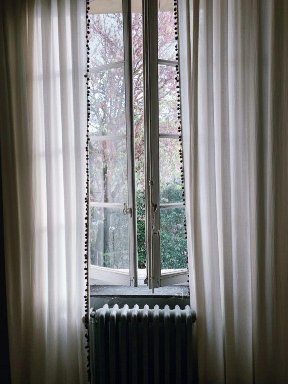 pom pom trim curtains. / sfgirlbybay