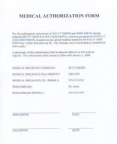 release authorization letter