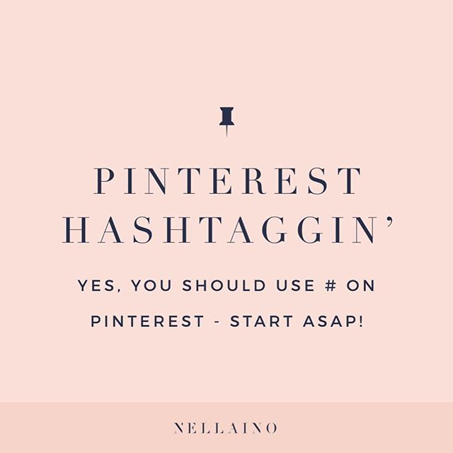 How to use hashtags on Pinterest - Nellaino