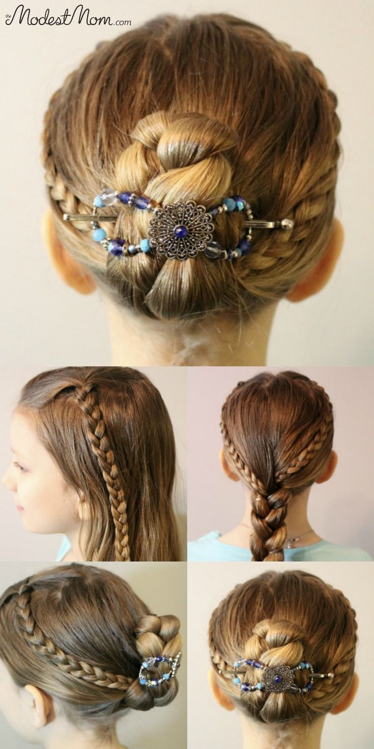 Triple Braid Hairstyle for girls and women! Use a Flexi Clip to keep the braids up all day long with no headaches! #braid #hairstyle