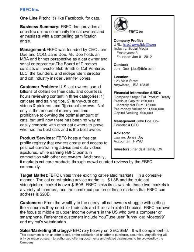 1 Page Executive Summary Template Executive Summary Template Of - one page executive summary template