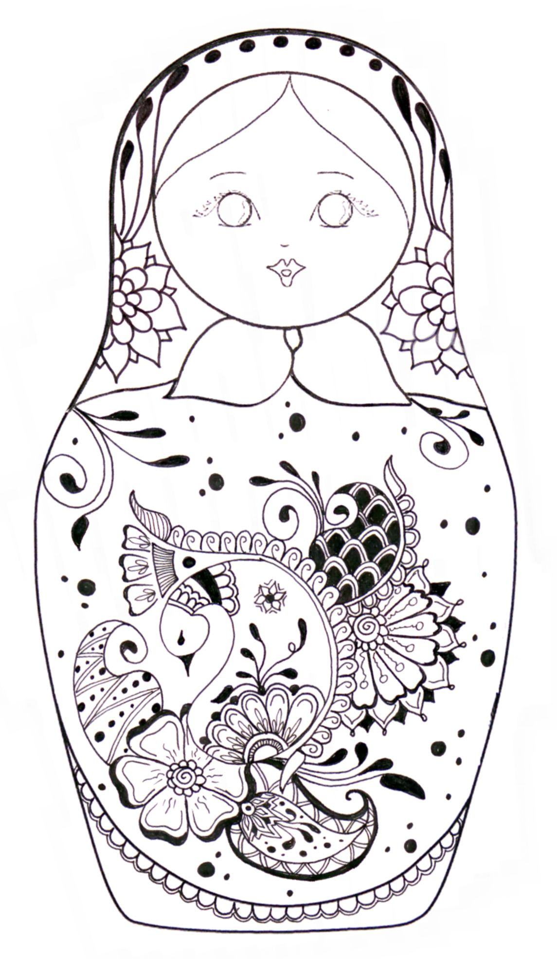 russian folk art coloring pages - photo#10