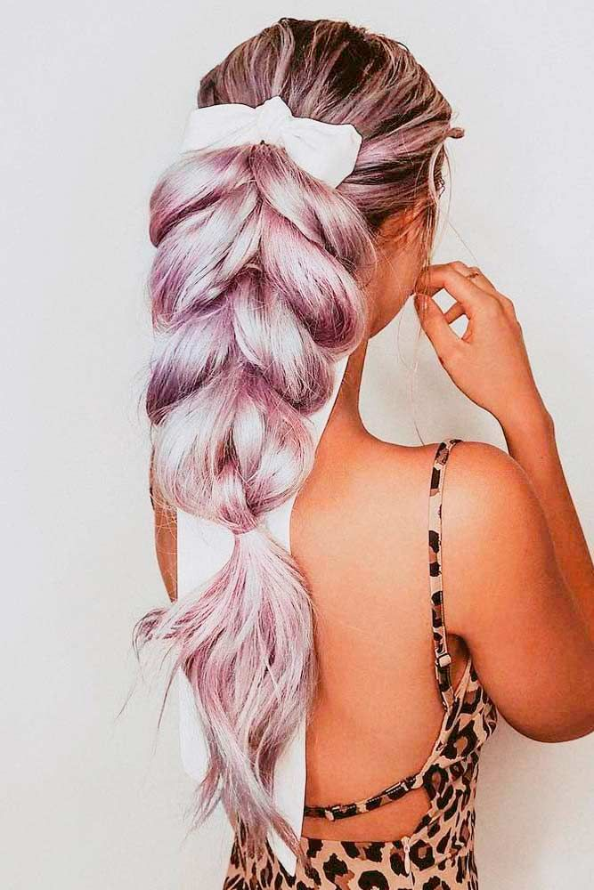 Pull-Through Braid Ponytail #pullthroughbraid #longhair ★ We bring you easy hairstyles for long hair to make you look chic. Dreaming to change your style but do not know how to do it?#glaminati #lifestyle #easyhairstylesforlonghair