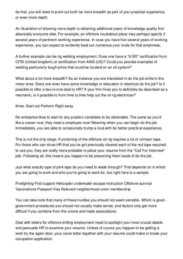 Rig Welder Cover Letter | Cvresume.unicloud.pl