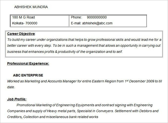 Objective For Mba Resume Formalbeauteous Mba Admission Resume - mba application resume format