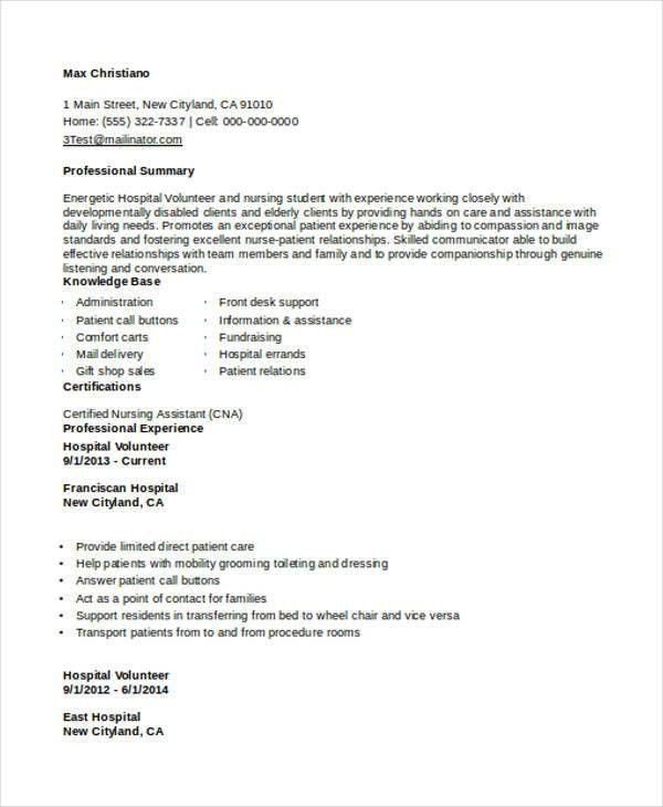 Vista Volunteer Sample Resume Vista Volunteer Sample Resume Vista