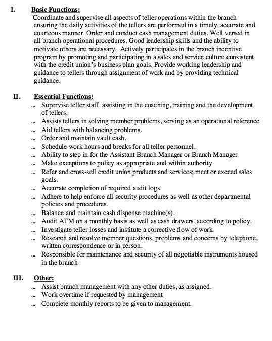 Head Teller Resume Teller Resume, Job Winning Bank Teller Resume - bank teller duties