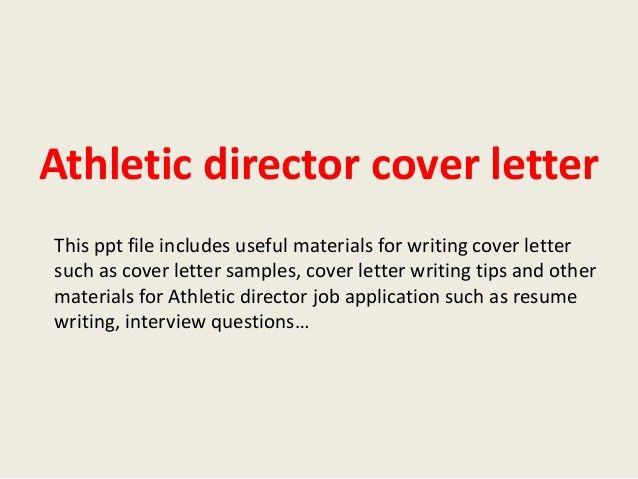 Berkeley Cover Letter Hot Jobs Assistant Athletic Director  Athletic Director Cover Letter