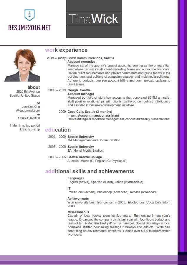 updated resume formats format 2016 - Newest Resume Format
