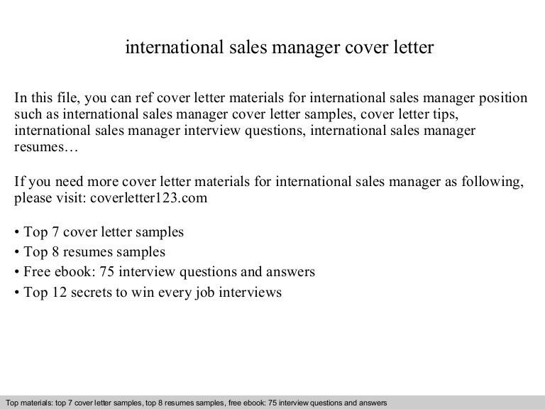 Sample Cover Letter Sales Manager Resume Cover Letter For - sample cover letter for sales job