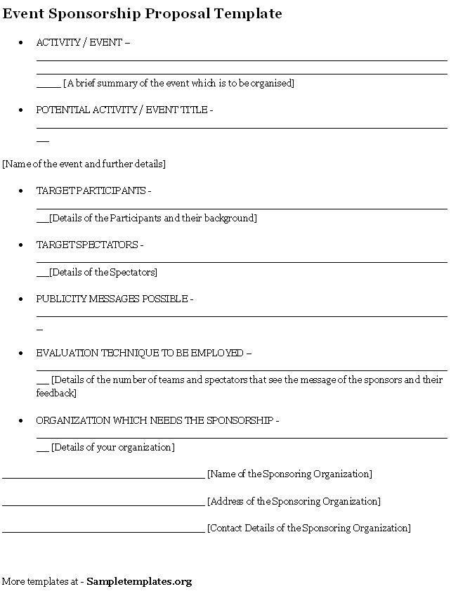 Blank Sponsorship Forms Sponsorship Form Template Free Printable - seminar feedback form