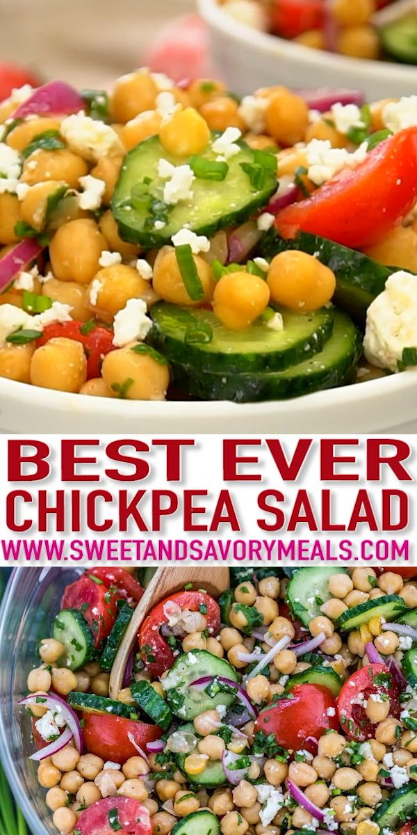 Chickpea Salad - Sweet and Savory Meals