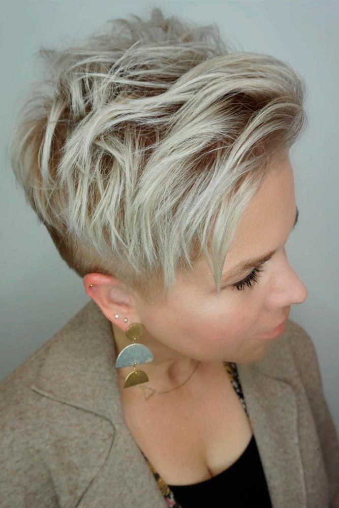 Stylish Wavy Pixie Haircut #shorthair #blondehair ★ A pixie cut will work great for a woman who has an extremely active lifestyle and who would like people to take her seriously. This cut is universally flattering and can be sported in a variety of ways. If you are tempted to try this bossy cut, see our photo gallery to pick one. #glaminati #lifestyle #pixiecut