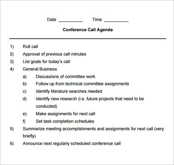 Sample Business Meeting Agenda Format Business Meeting Agenda - sample meeting agenda 2