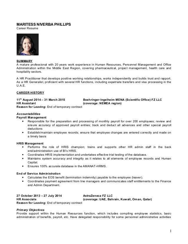 hr generalist resume objective env 1198748 resume cloud