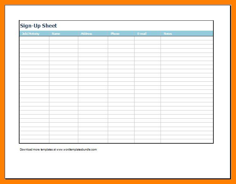 Attendance Sign In Sheet Attendance Sign In Sheet Template 9 Free - attendance chart template