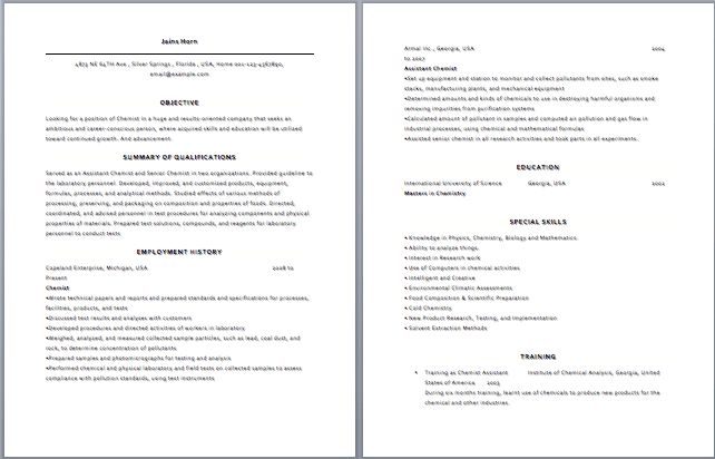 plant chemist resume chemistry instructor resume samples power