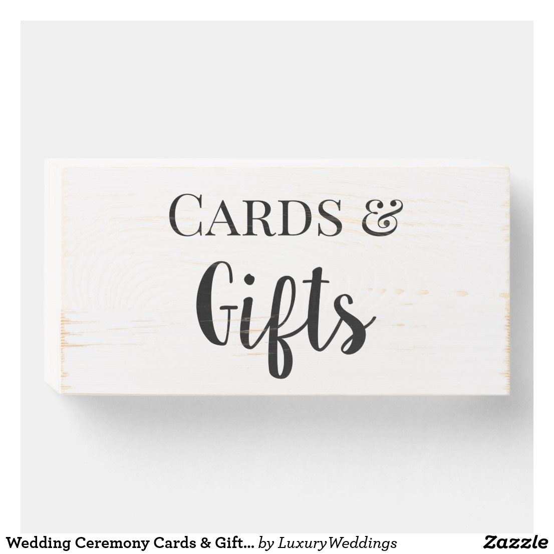 Wedding Ceremony Cards & Gifts Table Sign Wooden