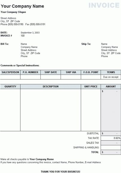 End tax plan tax templates for excel - tax invoice template excel