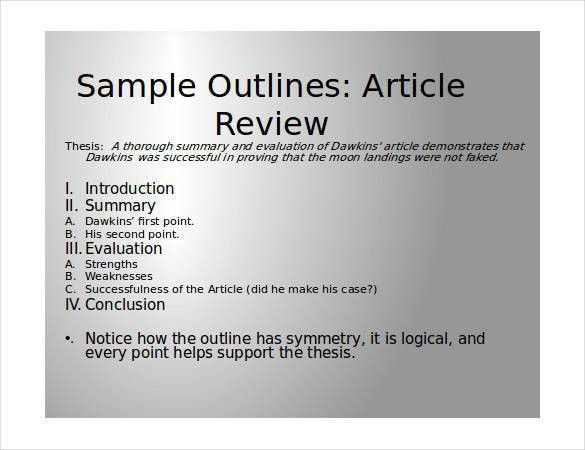 how to write a review article format english