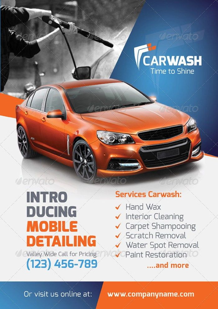 Car Flyer Template Car Wash Flyer Template By Grafilker - car for sale flyer template