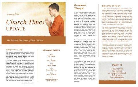 Church Newsletter Templates Free Best Church Newsletter Template - church newsletter