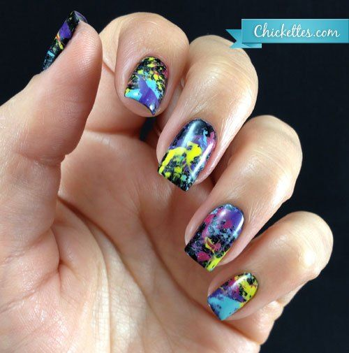 20 amazing Splatter Nail Designs for you – Fashonails