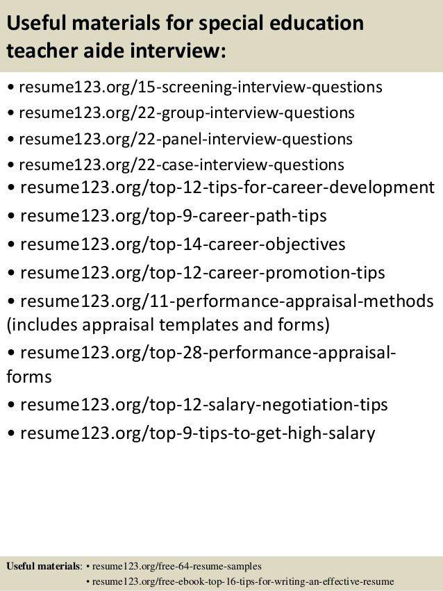 sample resume for teachers aide