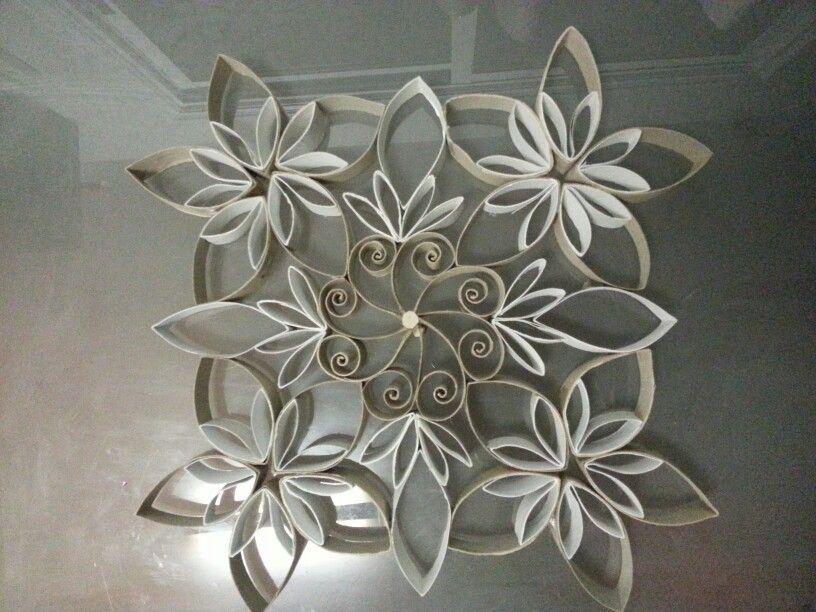 cardboard tube snowflakes found at. Black Bedroom Furniture Sets. Home Design Ideas