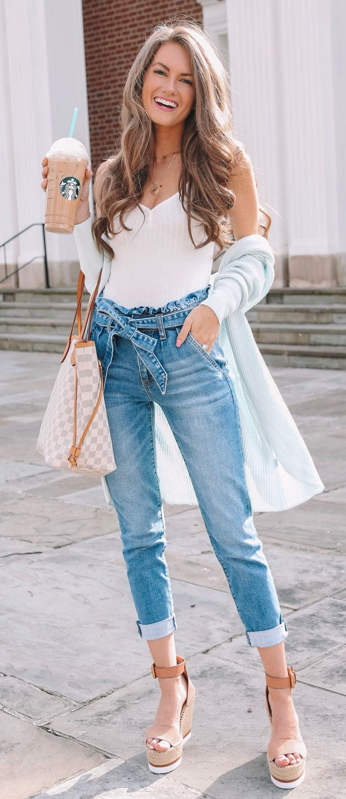 white camisole tops #spring #outfits