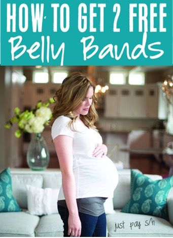 Belly Bands for Pregnancy!  How to keep wearing your cute maternity jeans all pregnancy long!