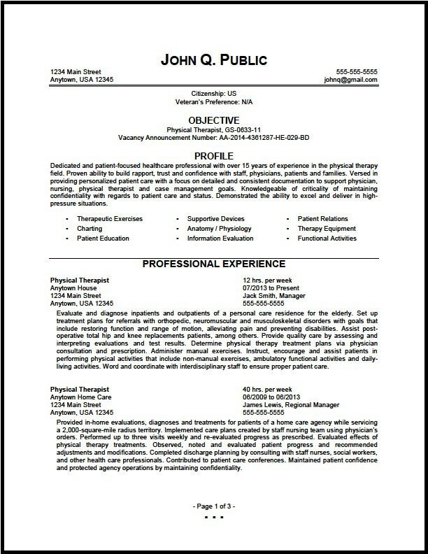 Physical Therapist Resume Unforgettable Physical Therapist Resume