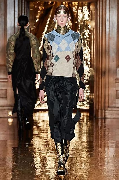 Inspiring Trends From LFW AW20. Preen's deconstructed argyle knitwear gave the nod to 90s grunge while tapping into the sustainability conversation of crafty upcycling (do try this at home).
