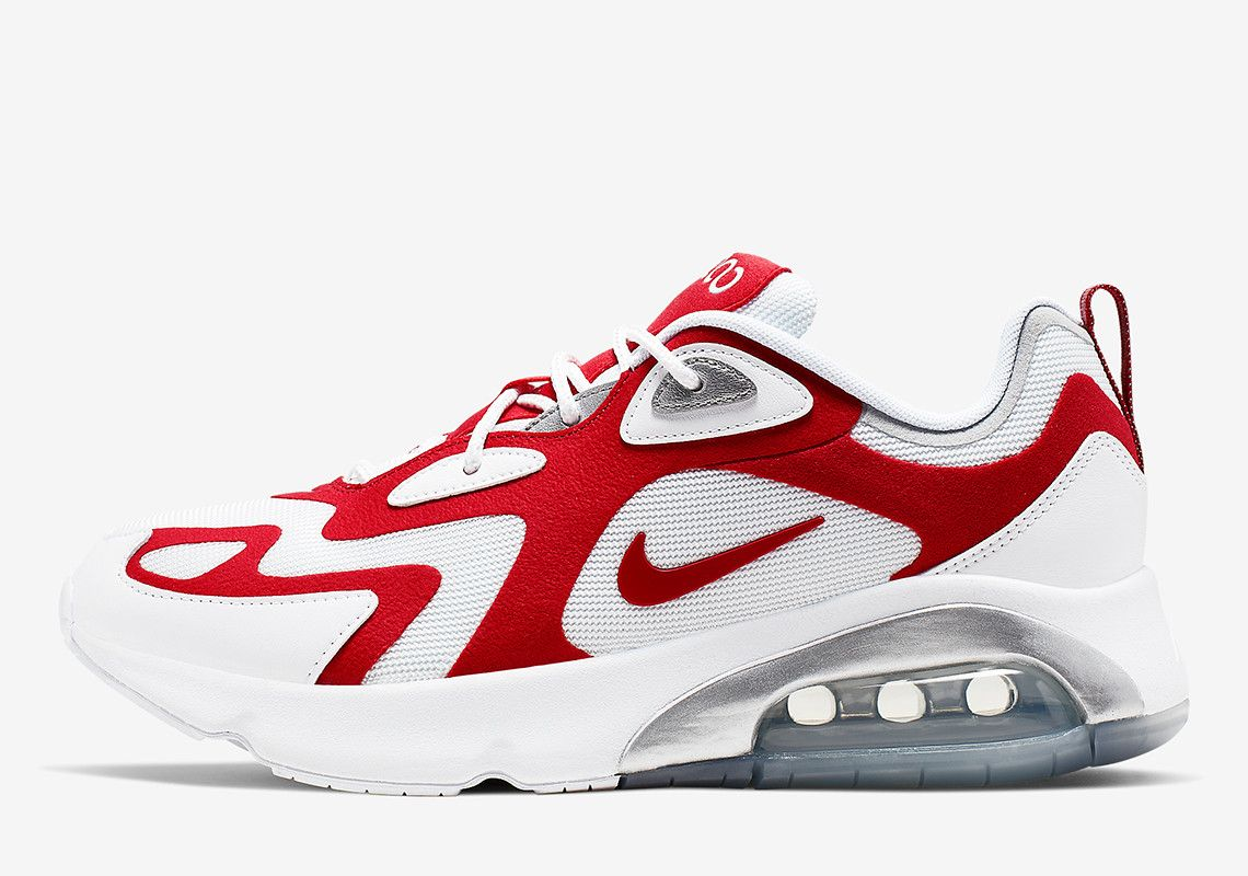 The Nike Air Max 200 Releases In A Familiar University Red