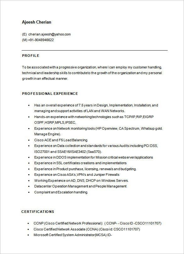 sample resume network engineer network engineer resume sample network engineer resume template