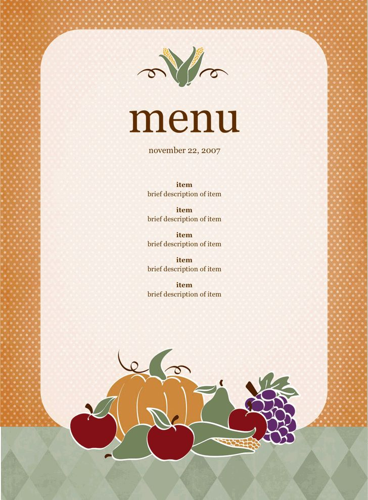 Party Menu Template 17 Dinner Party Menus Psd Word, Party Menu - dinner party menu template