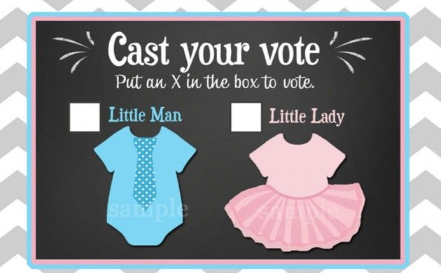 Gender Reveal Printable Voting Cards