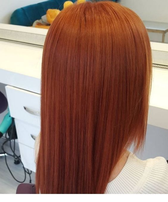 Lovely ginger hair tone