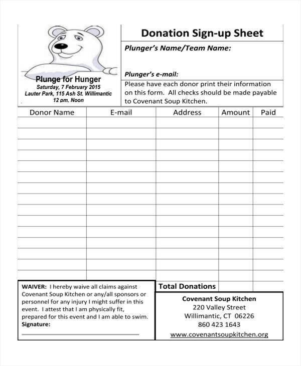 Team Sign Up Sheet Template Sign Up Sheets Potluck Sign Up Sheet - sample sign up sheet
