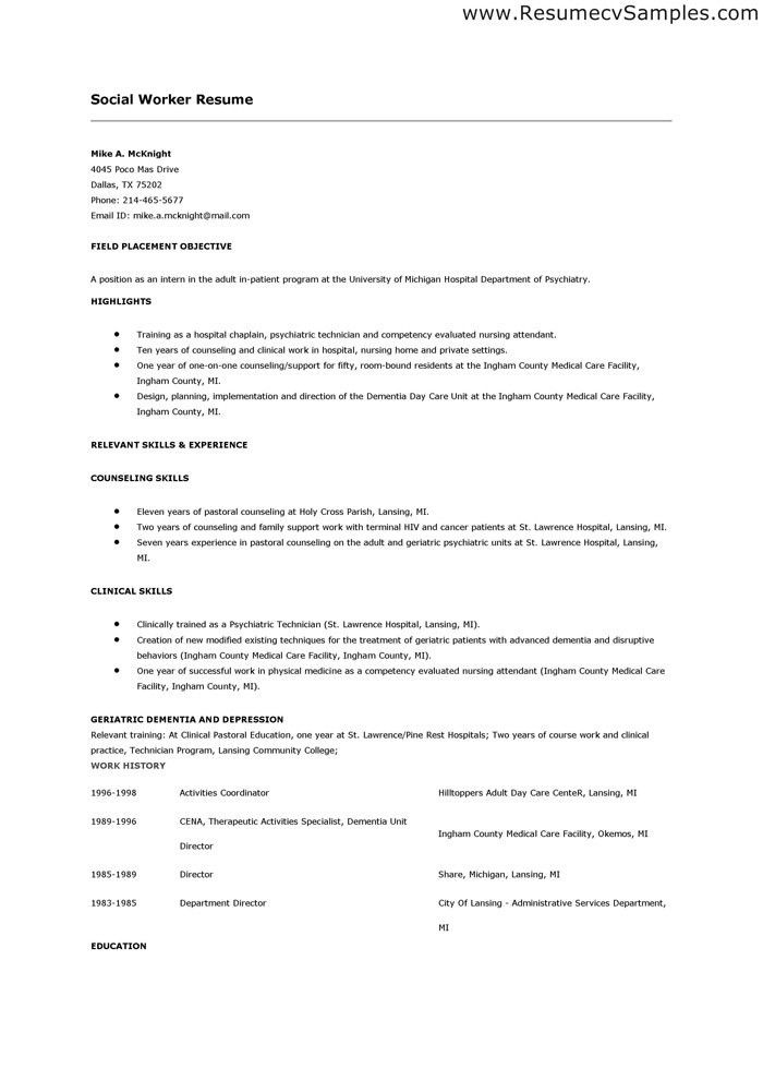 social worker sample resume social work resume sample writing sample social worker resume sample resumes - Resume Format For Social Worker
