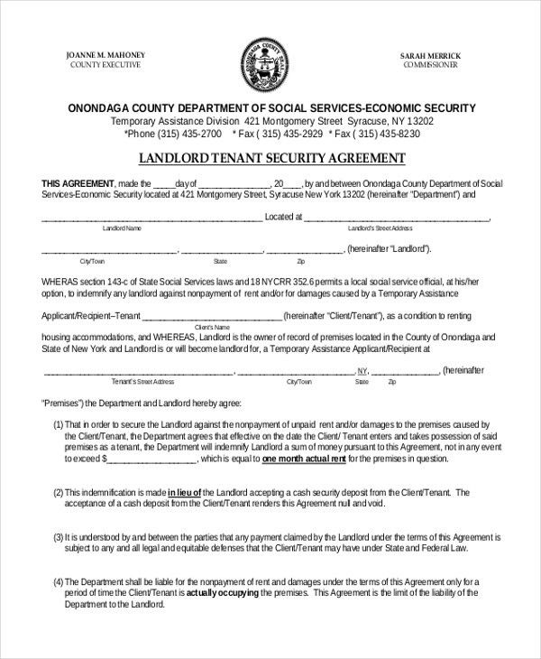 Indemnity Forms Indemnity Agreement Template Sample Form - sample security agreement