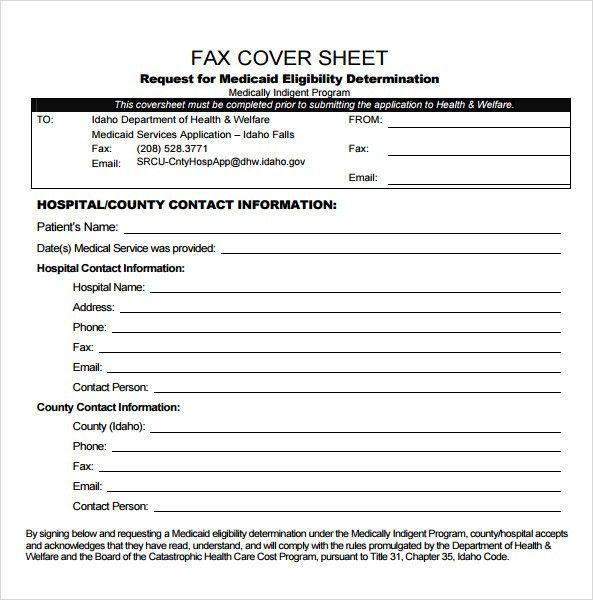 Fax Cover Sheet Blank Free Fax Cover Sheet Template Printable Fax - cute fax cover sheet