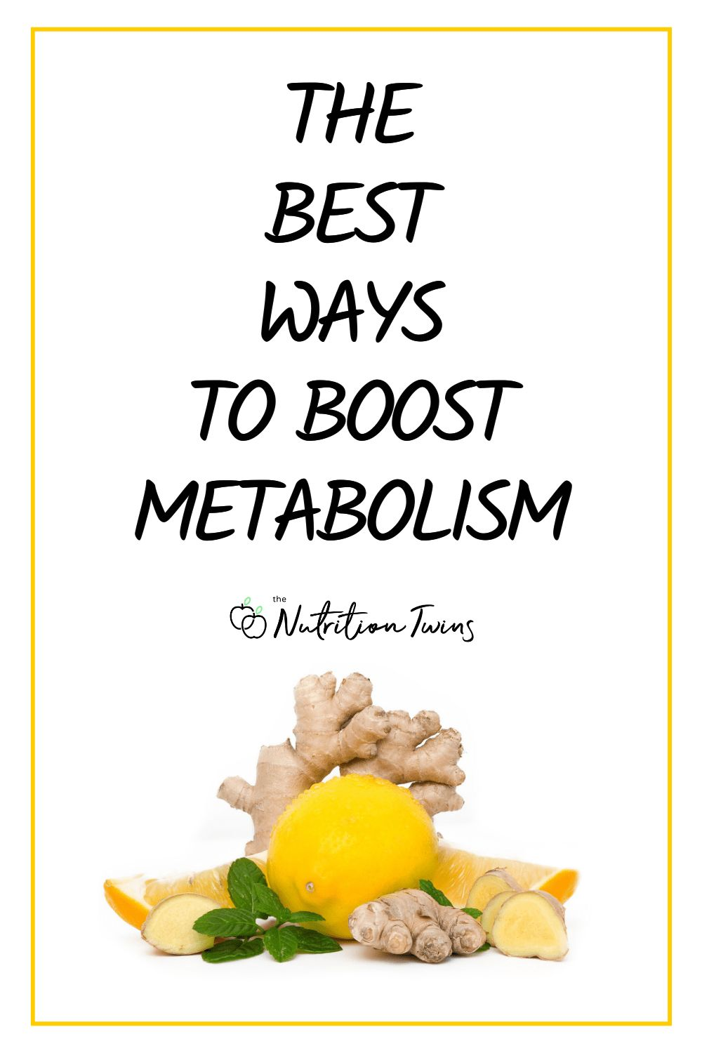 The Best Ways to Boost Metabolism. If you want to lose weight fast, safely and permanently and get a flat belly, try these simple ways to speed up your metabolism. It's more than flat belly foods, it's things you can do on top of your flat belly workout plan to burn more fat. #metabolism #loseweight #flatbelly For MORE RECIPES, fitness & nutrition tips please SIGN UP for our FREE NEWSLETTER www.NutritionTwins.com